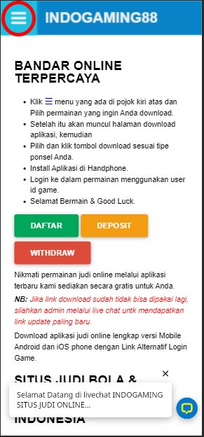 Situs Login Indogaming88 VIP