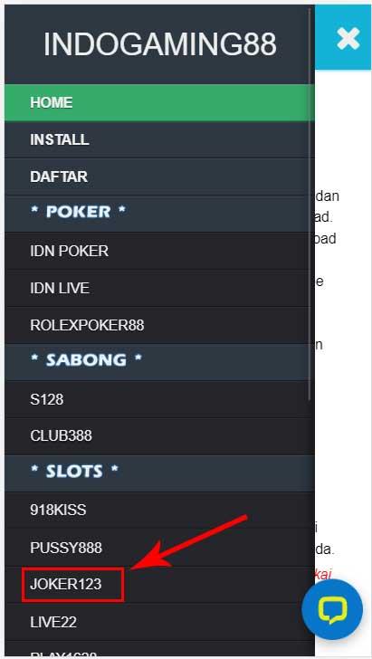 Website Joker123 Online