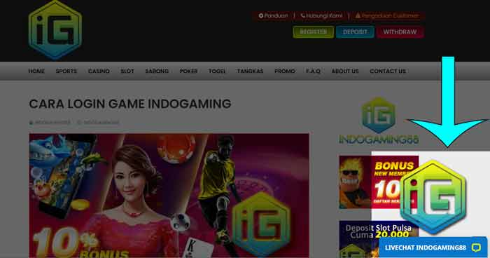 Livechat Indogaming88 PC